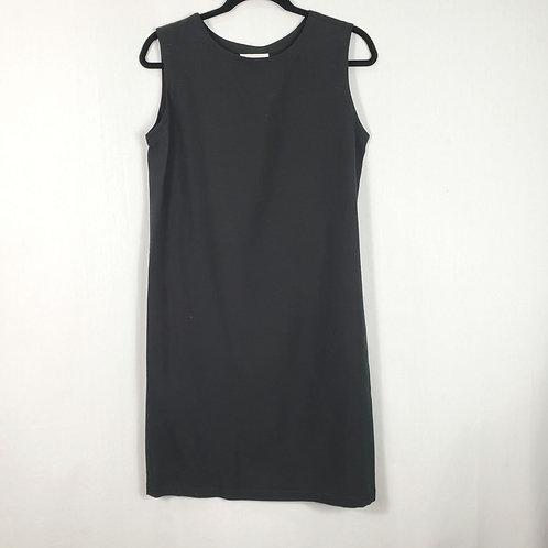 Eileen Fisher Black Silk Shift Dress - S