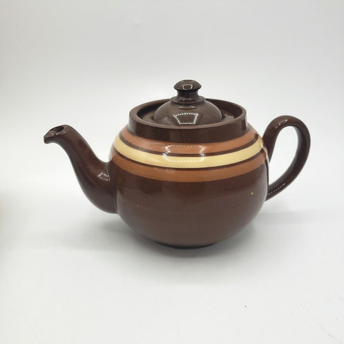 Vintage LB Made In England Brown Betty Teapot Single Cup