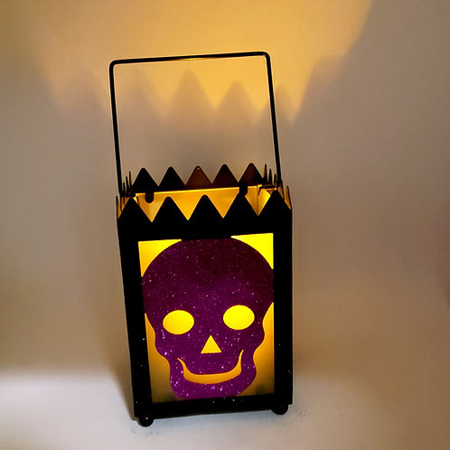 Glass Skull Lantern(candle not included)
