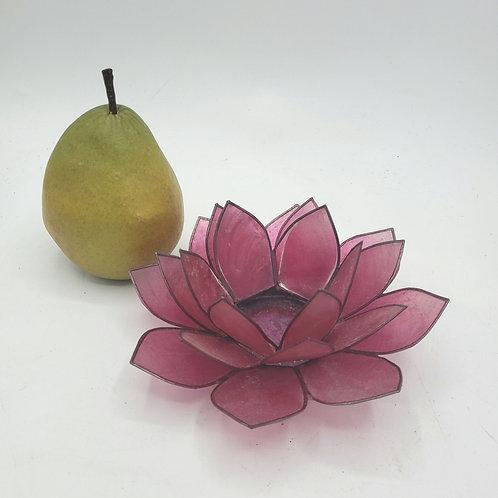 Magenta Lotus Capiz Tealight Candle Holder