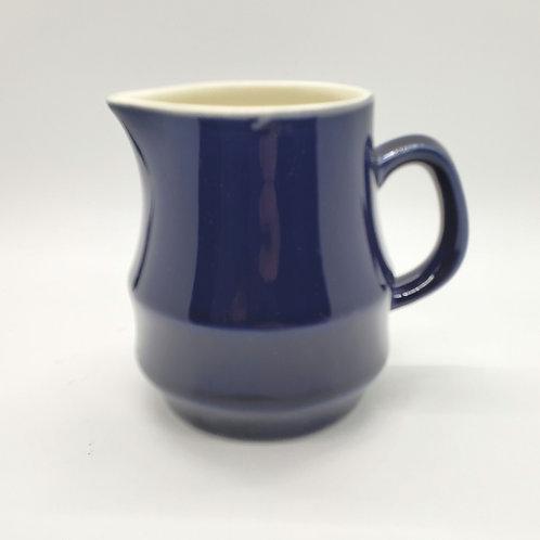 "Vintage Stoneware Japan Creamer Navy Blue 4"""