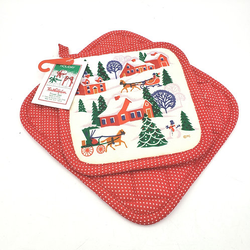 Holiday Trivet Set and Oven Mitt