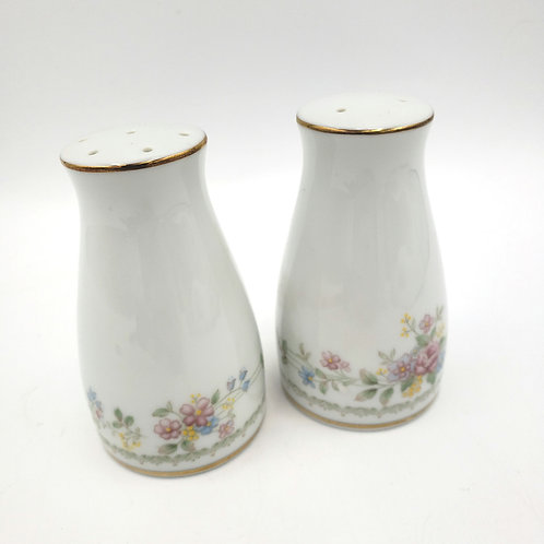 """Contemporary Fine China by Noritake Salt & Pepper Shakers Floral 3.5"""""""