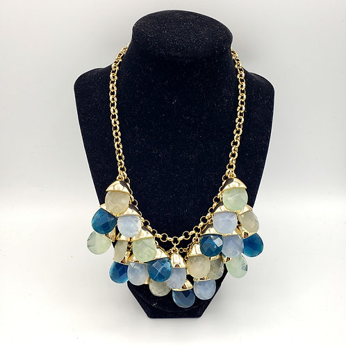 Talbots Shades of Teal Statement Necklace