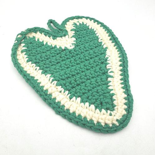 """Vintage Heart Potholder Trivet 10"""""""