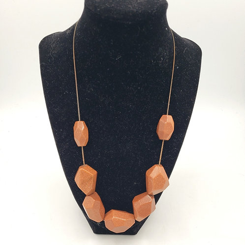 Goldstone Bead Necklace