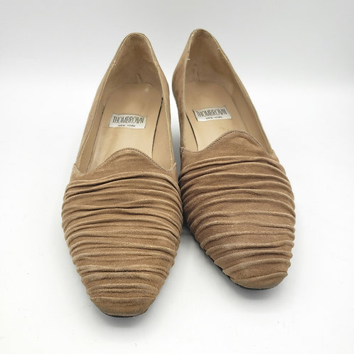 Vintage Thom Brown New York Low Taupe Heels - size 7.5B