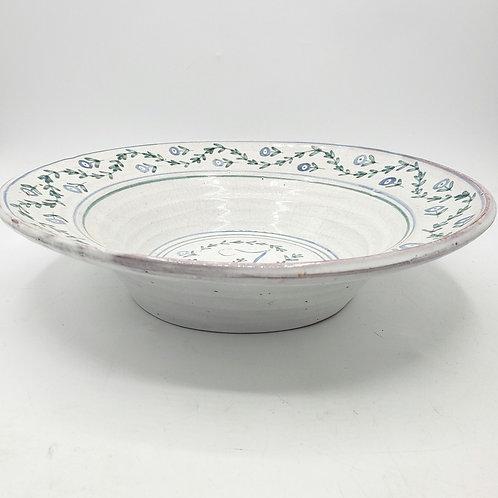 "Handmade Pottery 11"" Serving Decorative Bowl Letter ""J"" Centerpiece"