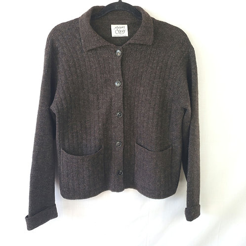 Margaret O'Leary Brown Cardigan - approx S/M
