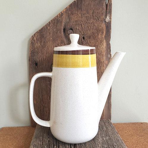 """Vintage NuStone C1000 Speckled Ceramic Tea Pot 9""""Tall"""
