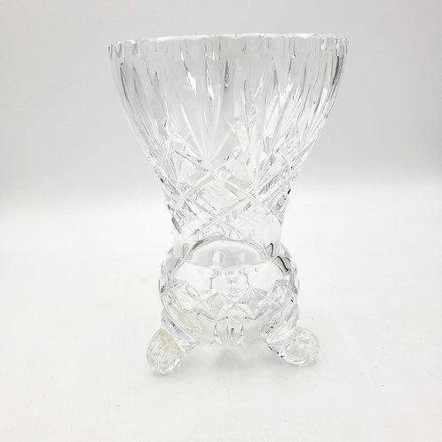 "Vintage Crystal Footed Flower Vase 6"""