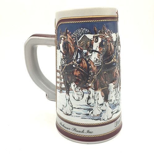 1989 Anheiser Busch Winter Collector Series Beer Mug