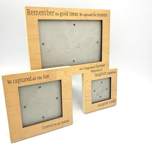 Wooden Tabletop Frame Set of3
