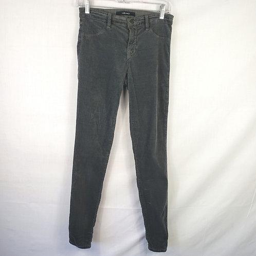 J Brand Super Skinny Stretch Velvet Jeans - 26R