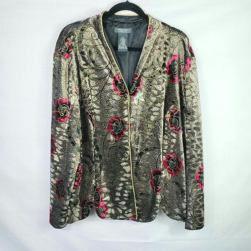 Dress Barn Collection Velvet Roses Blazer - 24W