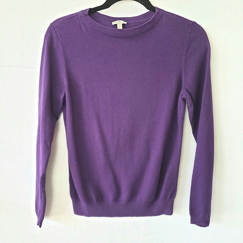 Talbots Purple Pull Over Sweater - Petite