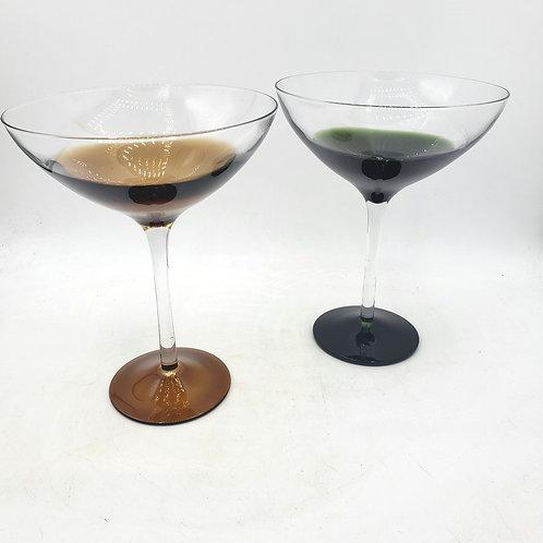 Handblown Glass Martini Glasses Set of 2