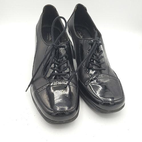 Clarks Bendables Black Leather Oxfords - size 7.5