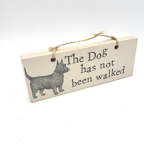Wooden Dog Walked/Not Walked Sign