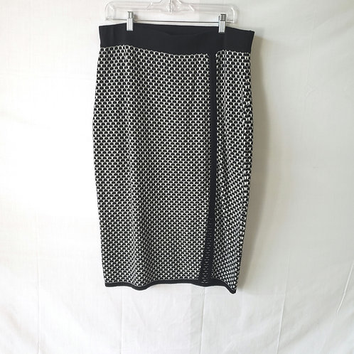 Project by Kikit Black and White Knit Skirt - L