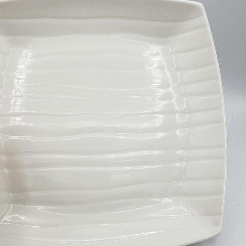 """Storehouse Ribbed Ceramic Serving Dish 12""""W 2""""H"""
