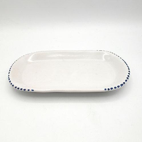 Handmade Ceramic Oval Dish Small