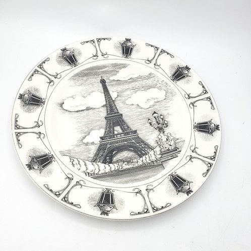 "222 Eiffel Tower 11"" Plate"