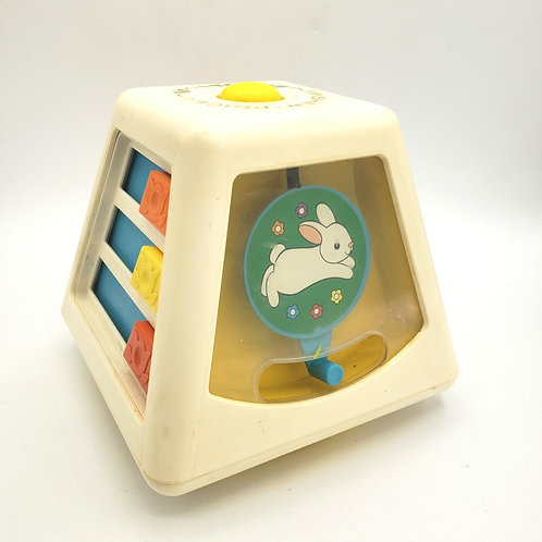 Vintage 1978 Fisher Price 156 Turn & Learn Spinning Toy Activity Center