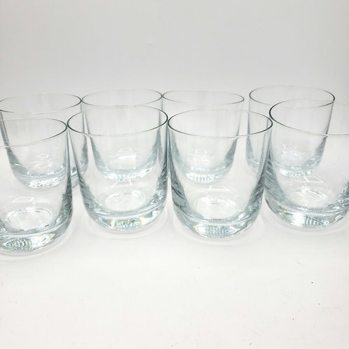 Short Heavy Base Rocks Glassware Set of 8