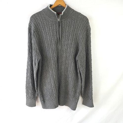 Izod Gray Cable Cotton Sweater - XXL