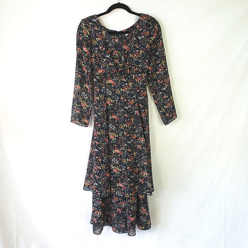 Lanz Navy Floral Dress - size 6
