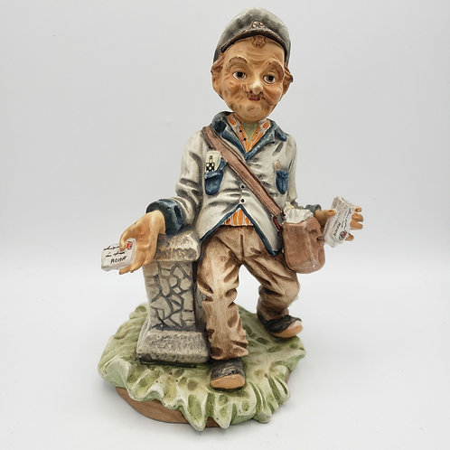 Ceramic Sculpture Profesor S. Colleli Mail Carrier