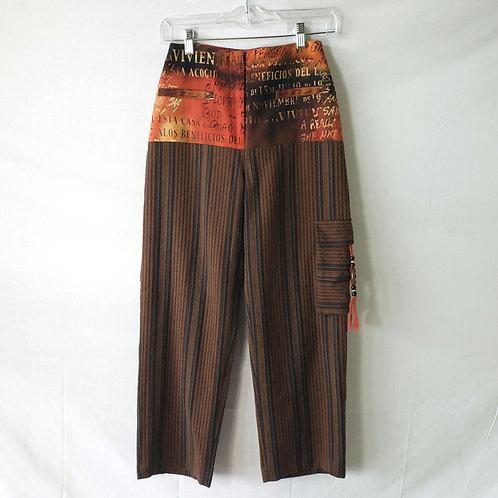 Multi Pattern Brown Pants - size 2