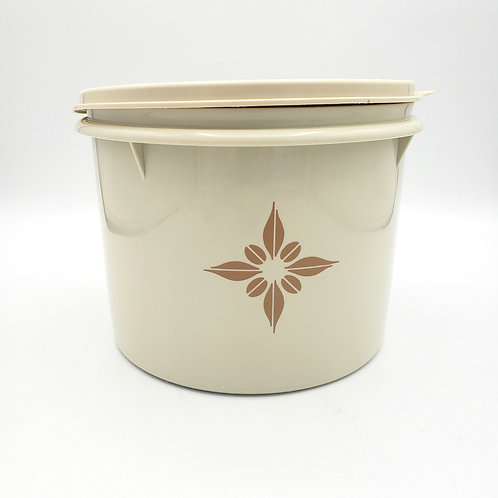 Vintage Tupperware Canister Almond