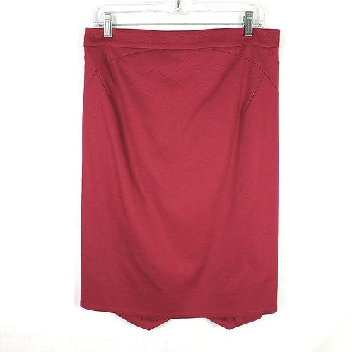 Zac Posen Raspberry Pencil Skirt - size 10