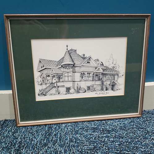 """John Steinbeck House Salinas, California Matted and Framed(Worcester,MA) 12""""x15"""""""