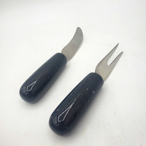 Marble Cheese Knives Set of 2