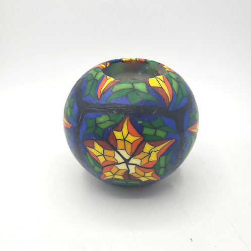 Stained Glass Star Pattern Candle (pre-lit)