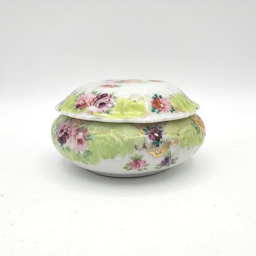 """Vintage Porcelain Trinket Box with Lid 4"""""""