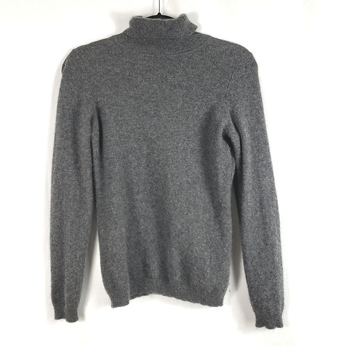 Charter Club Gray Turtleneck Cashmere Sweater - S