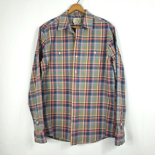 LL Bean Cotton Plaid Shirt - M