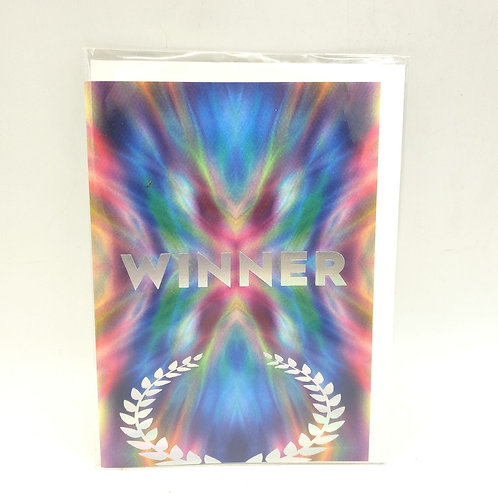 Winner, Congrats! Blank Card with Envelope