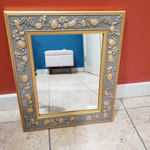 Gold Frame Mirror With Apple Relief