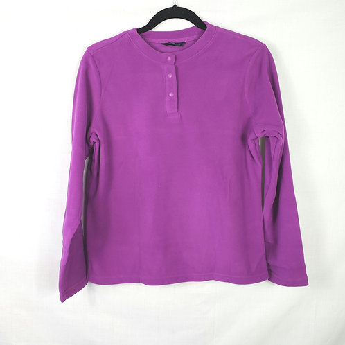 Land's End Bright Purple Fleece Pull Over - S