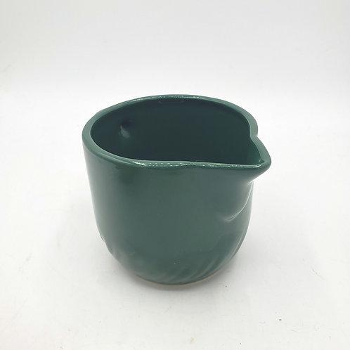Dark Green Ceramic Creamer England