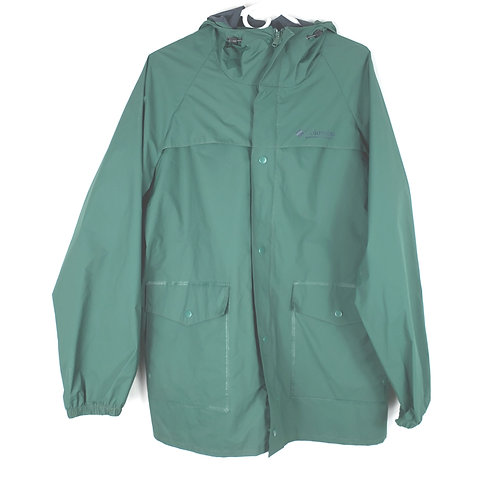Columbia Green PVC Rain Jacket - M