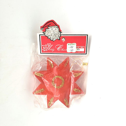 Vintage Star Paper Ornament