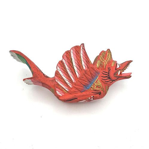 "Handcarved Figurine Wings Mobile Folk Art Indonesia 7"""