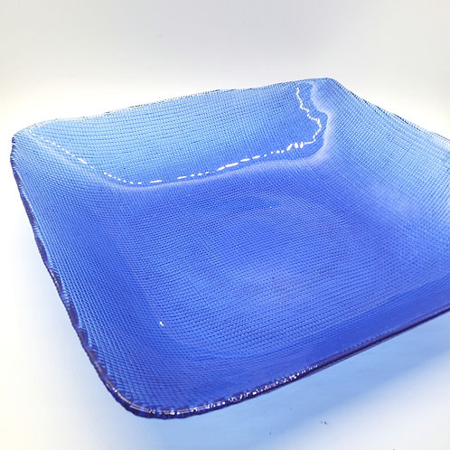 """Bue Glass Rectangle Serving Bowl 10"""""""