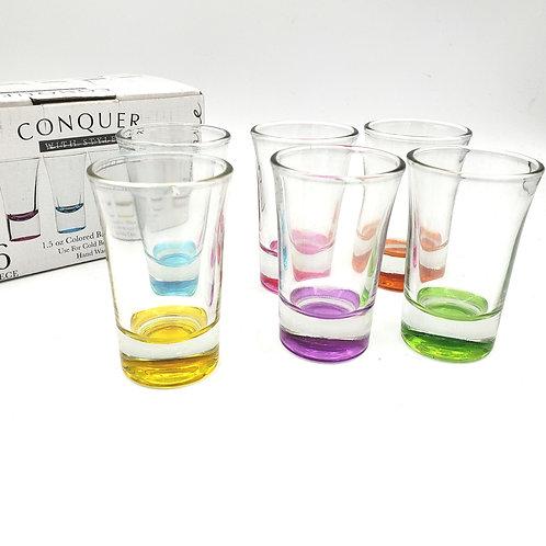 Conquer 1.5oz Glass Shotglass Set of 6